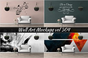Wall Mockup - Sticker Mockup Vol 304