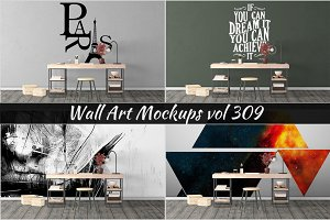 Wall Mockup - Sticker Mockup Vol 309