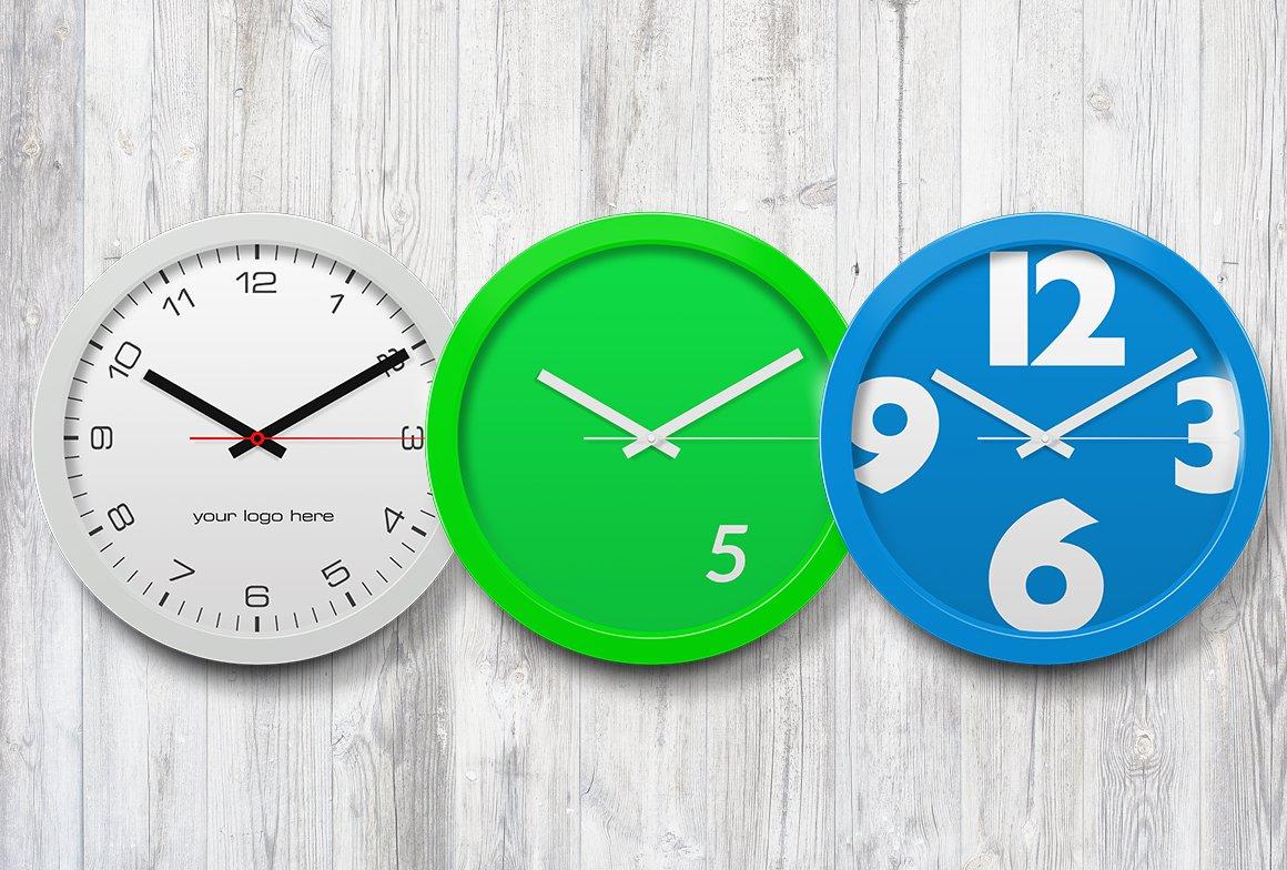 V2 Wall Clock Mockup Product Mockups Creative Market