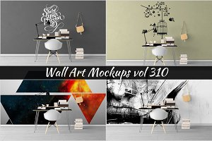 Wall Mockup - Sticker Mockup Vol 310