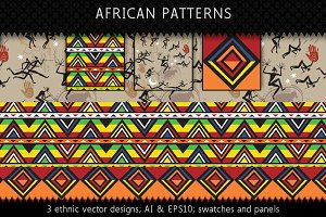 Ethnic Africa Textile Patterns