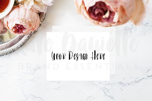 Stationery Mockup Set with Florals