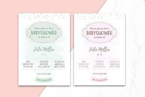 BabyShower Confeti Invitation