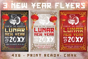 3 Chinese Lunar New Year Flyers