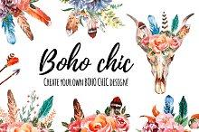 Watercolor BOHO chic generator