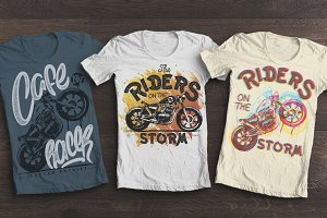 Riders on the storm, t-shirt print.