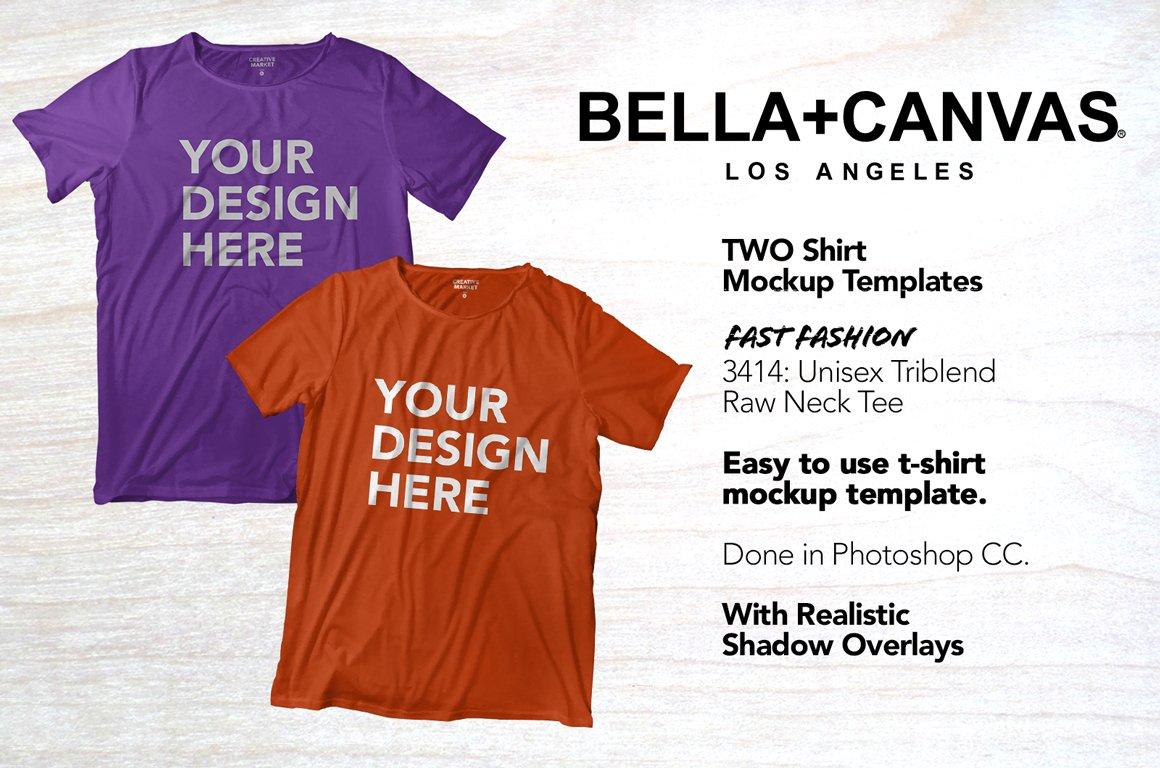 Folded T-Shirt Mockup Template ~ Product Mockups ~ Creative Market