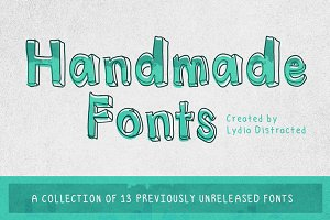 Handmade Fonts Set