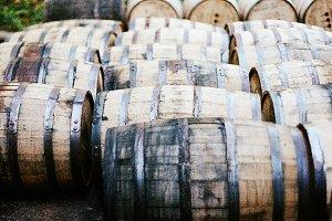 Bourbon Whiskey Barrels