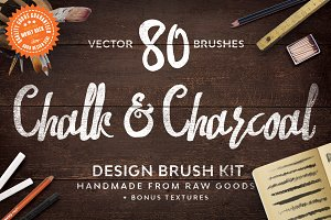 Chalk & Charcoal Vector Brushes