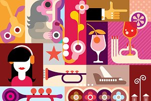 Musical Festival illustration