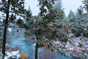 Snow on the Deschutes