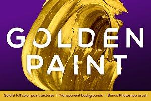 Golden Paint—Transparent BG Textures