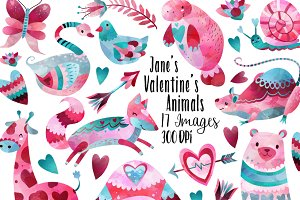 Valentines Day Animals Clipart