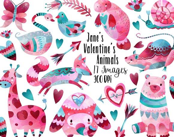 Valentines Day Animals Clipart