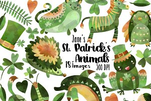 St. Patrick's Day Animals Clipart