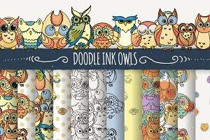 10 Ink Doodle Owls
