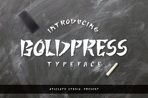 Boldpress Typeface (30% off)
