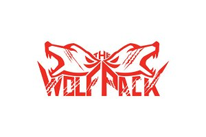 The Wolf Pack Head Retro
