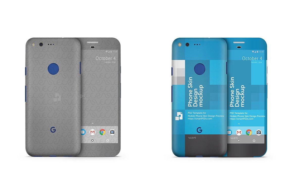 Google Pixel Mobile Skin Mockup Product Mockups Creative Market