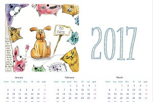 2017 Wall Calendar - A4