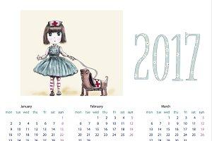 2017 Wall Calendar -A4