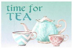 Vintage Tea cups & pots