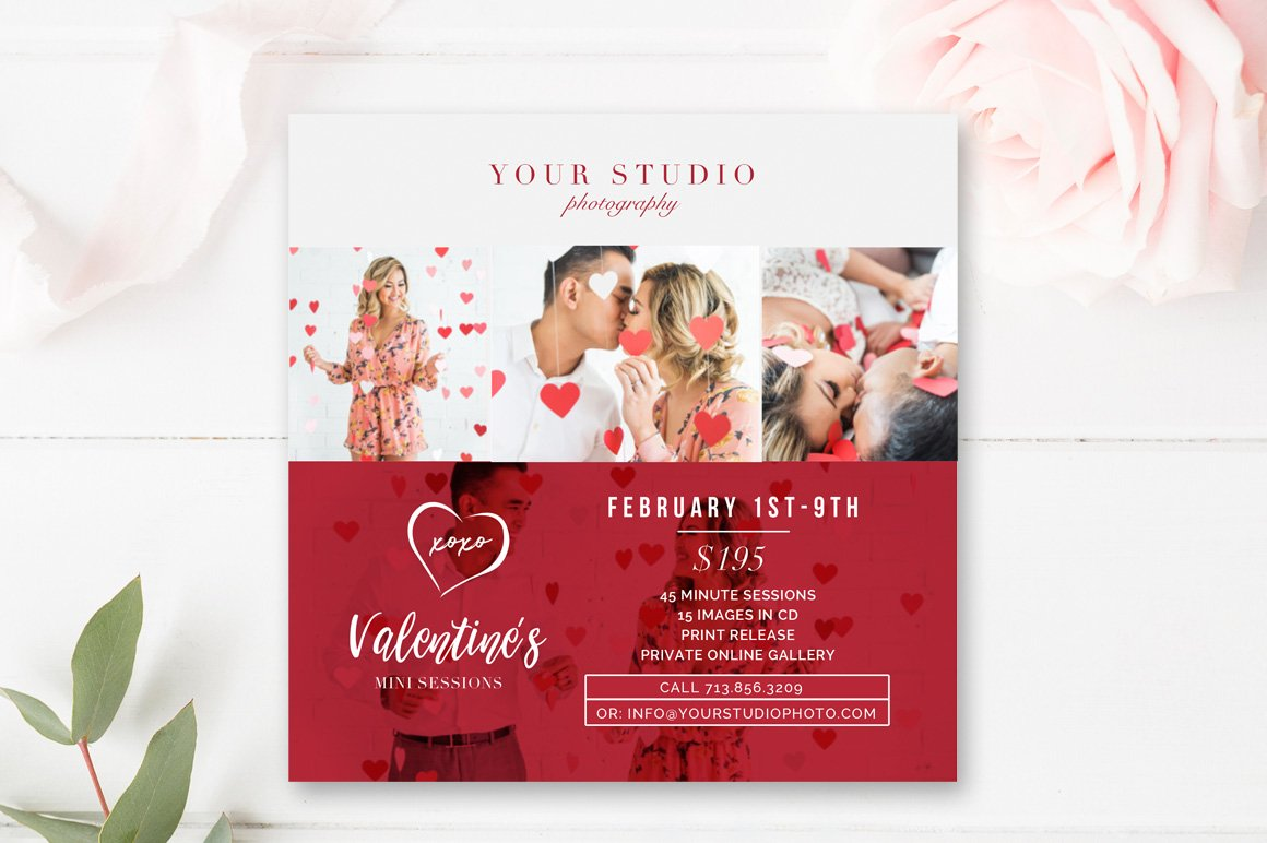 valentines template mini session set flyer templates on valentine