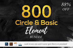 800 Circle & Basic Element - 88% OFF