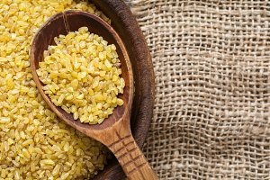 Bulgur, wheat grains