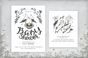 Baby Shower Kit • Birds & Flowers
