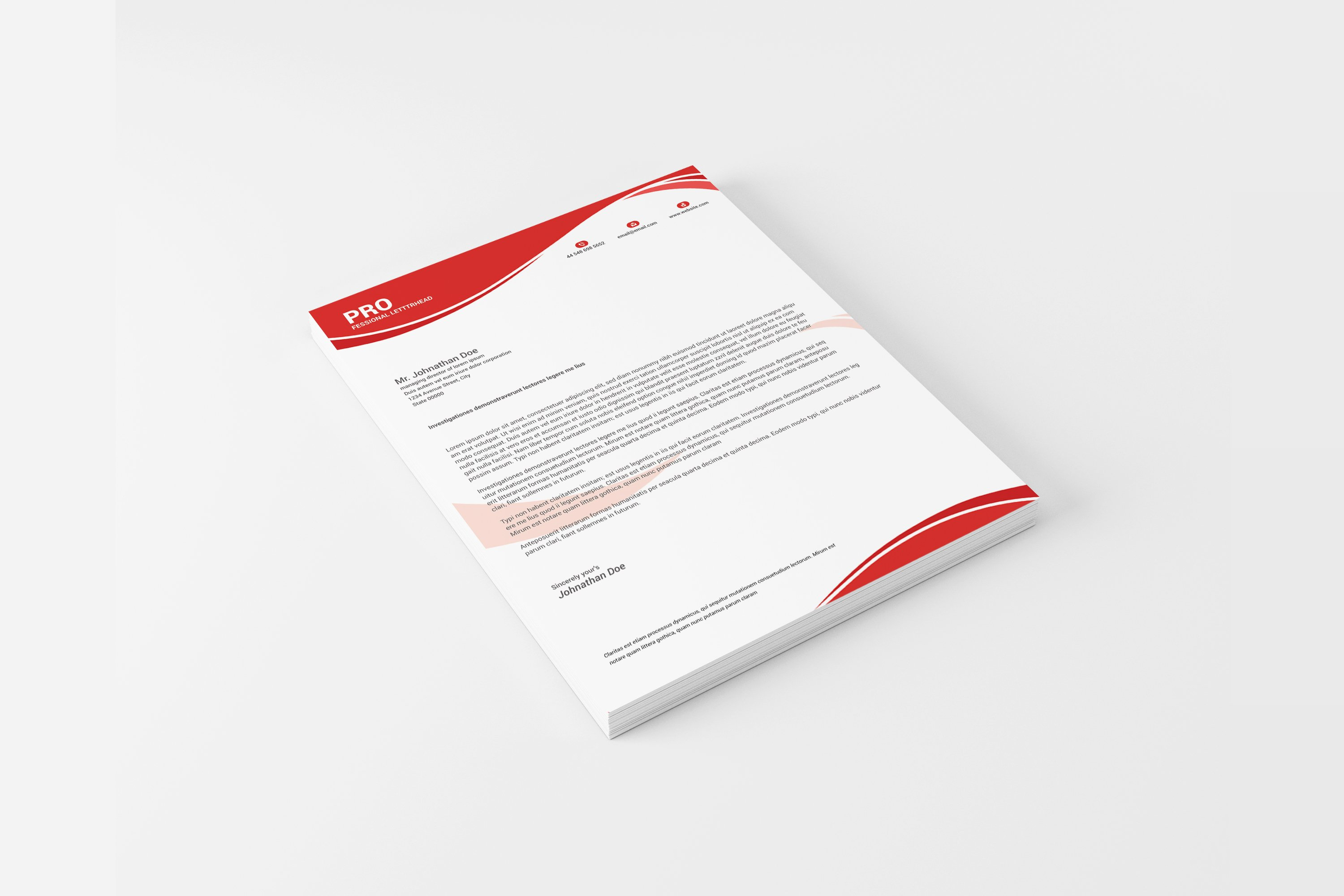 Us Letter Letterhead With Ms Word Stationery Templates