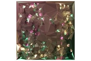 Antique Bronze Abstract Low Polygon