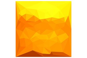 Cyber Yellow Abstract Low Polygon