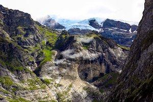 Green Hills and Glacier, Switzerland