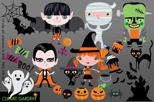 23 Halloween vector clip art