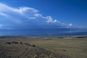 Clouds over Lake Baikal.