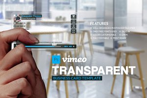 Vimeo Translucent Business Card