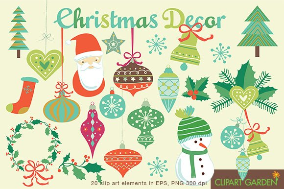 Christmas ornament clipart