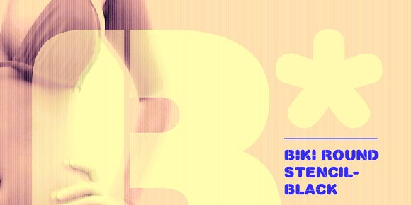 Biki Round Stencil Black