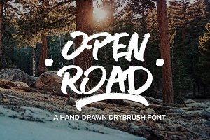 OPEN ROAD Brush Font