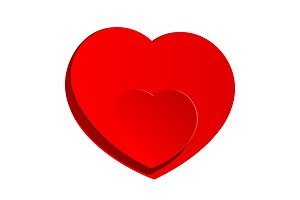 Red Heart inside a large heart