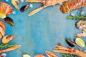 Fresh seafood frame