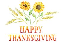 3 greeting cards -Happy Thanksgiving