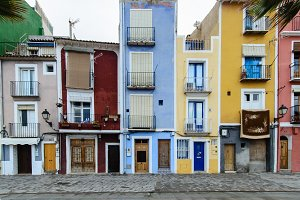 Old colored houses in Villajoyosa