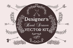 Designer's Hand Drawn Vector Kit