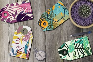 8 tropical gift tags