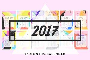 2017 abstract style calendar.