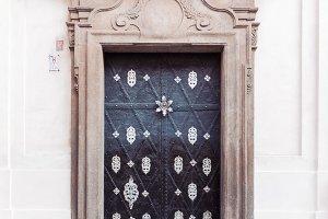 Decorative baroque palace doors