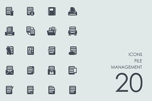 File management icons